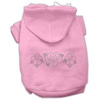 Mirage Pet Products Tropical Flowers Rhinestone Hoodies Pink XL (16)