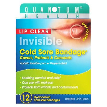Quantum Health Lip Clear Invisible Cold Sore Bandage 12 ea(pack of 6)
