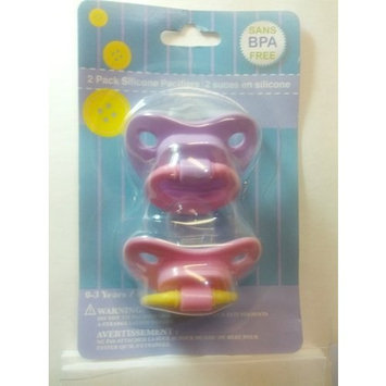 2 pack Silicone Pacifiers, color varies