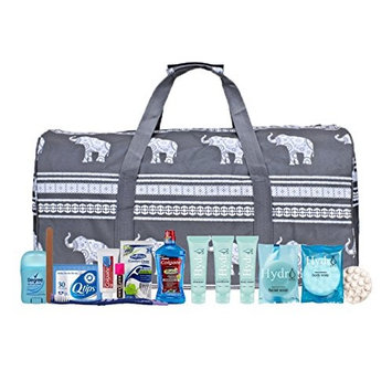 Maternity Hospital Labor Duffle Bag For Birth, Pre-packed Toiletry Bag - Elephant Grey