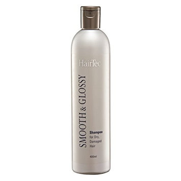 MUST BUY ! 1 Bottle COSWAY HairTec Smooth & Glossy Shampoo ( 400ml ) For Dry Damaged Hair