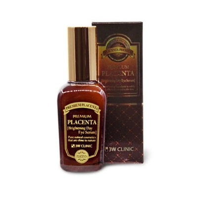 3W CLINIC Premium Placenta Brightening Day Eye Serum 1.69Oz Wrinkle Nutrition