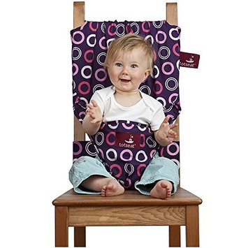 Totseat Chair Harness: The Washable and Squashable Travel High Chair in Bramble