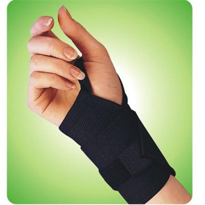 Living Health Products AZ-74-1311-4BK 4 in. Wrist Band with Thumb Loop - Black