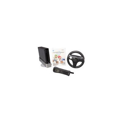 Wii Console with Mario Kart Wii Bundle (Black)