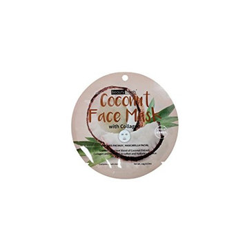BEAUTY TREATS Coconut Face Mask with Collagen for All Skin Types, 4-pack