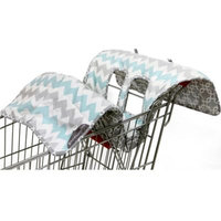 The Peanut Shell High Chair and Shopping Cart Cover in Grey Chevron