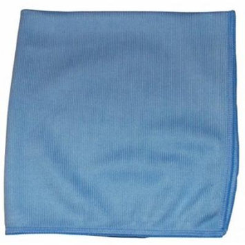 CPI MGLASS Glass Cleaning Microfiber Cloth, 16-Inch x 16-Inch, Blue (Pack of 12)