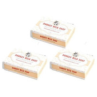 3 x Handmade Completely Organic Donkey Milk Soap for Woman's Care 90 gr (3 x 90 gr)