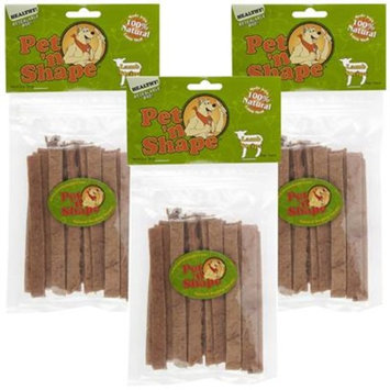 3 PACK Pet 'n Shape Lamb Strips Dog Treats [Options : 9 oz]