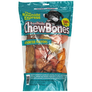 Rawhide Express Beefhide Dog Chew Bones Assorted Flavors (32-oz (2-lb) bag)