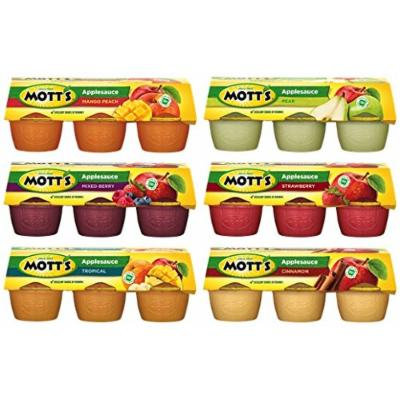 Mott's Applesauce Sampler Pack 6/4oz Cups (Variety Pack of 6) (36 Cups Total)
