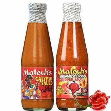 Matouk's CALYPSO and Trinidad Scorpion Pepper Sauce 10oz (Pack of 2)