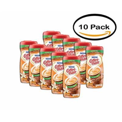 PACK OF 10 - COFFEE-MATE Vanilla Caramel Sugar Free Powder Coffee Creamer 10.2 oz. Canister