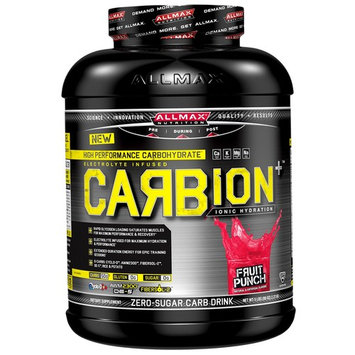 ALLMAX Nutrition, CARBion+, Maximum Strength Electrolyte + Hydration Energy Drink, Fruit Punch, 5 lbs (2.35 k) [Flavor : Fruit Punch]