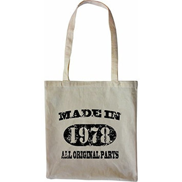 Mister Merchandise Tote Bag Made in 1978 All Original Parts 37 38 Shopper Shopping , Color [Black]