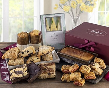 Dulce Gift Baskets Dulcet's Food Deluxe Gift Basket- Includes Scones, Cheese Brownie, Fudge Brow.