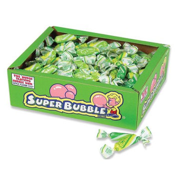 Farley's & Sathers Candy Company Super Bubble Apple Flavor Bubble Gum 180 Count