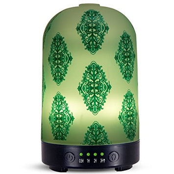 Aromatherapy essential oil diffuser 100ml cold mist humidifier without water automatic closing 7 color LED lamp 4 timing set for Home Office Yoga water therapy