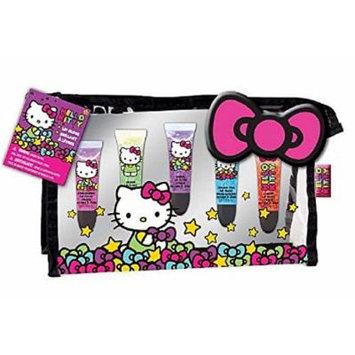 Hello Kitty Lip Gloss with Cosmetic Bag 5 Glosses