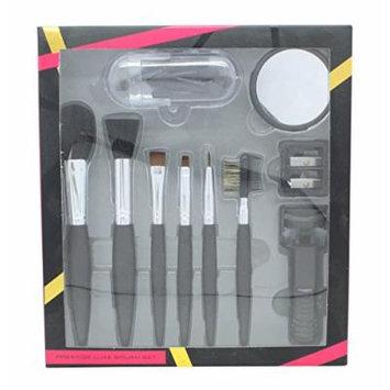 Active Cosmetics Prestige Luxe Brush Gift Set 6 Brushes + Mirror + Eye lash curler + 5 applicators +