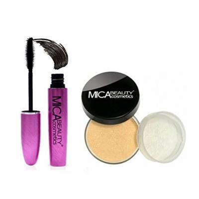 MICA Beauty Bundle: Long Lasting Mascara + Loose Powder Mineral Foundation 9gr MF7-Lady Godiva
