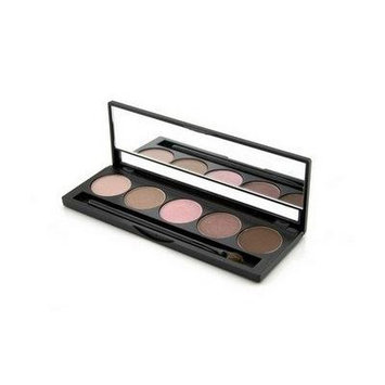 Jolie Micro Fine Mineral 5 Shade Eyeshadow Compact W/ Brush - The Naturals