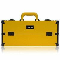 SHANY Modern Pro Slim Cosmetics Train Case Makeup Organizer with Brush Holder and Lock, Chamomile Yellow by SHANY Cosmetics