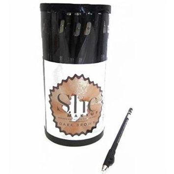 Dark Brown Long Pencil W. Sharpener, Case of 72