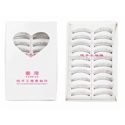 HM 10 Pairs/set Soft Natural False Eyelashes Handmade Fake Lashes long thick Makeup Extension