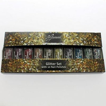 La Femme Mini Nail Polish Gift Set - Glitter Set With 10 Nail Polishes - Perfect Gift For Her by La Femme