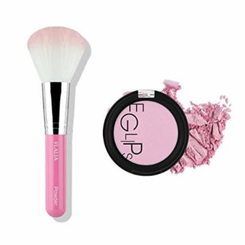 Eglips Apple Fit Blusher and Flalia Premium Modern Brush SET Lavender Bloom + Pink Brush