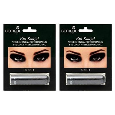 BIOTIQUE - BIO KAAJAL -NOURISHING & CONDITIONING EYE LINER WITH ALMOND OIL - 2 pk