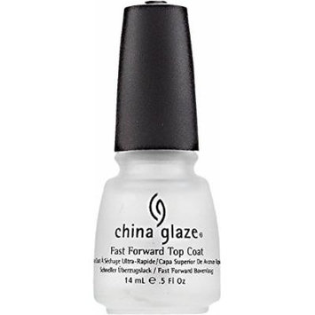 China Glaze Fast Forward Top Coat Nail Polish 0.50 oz (Pack of 4)