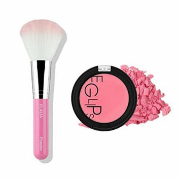 Eglipse Apple Fit Blusher and Flalia Premium Modern Brush SET Sexy Rose + PInk Brush