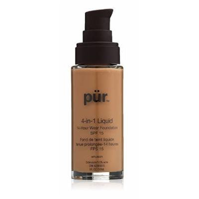 Pur Minerals Tan, 4-in-1 Liquid Foundation,1 Ounce (Pack of 3)