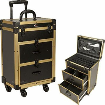 Nail Polish Makeup Rolling Case Trolley