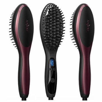 3-Pack Anjou Hair Straightener Brush Ionic Electric Ceramic Heating Straightening Brush ( Max 450℉ / 230℃, Adjustable Temperature, Auto Lock, 120-min Timer )
