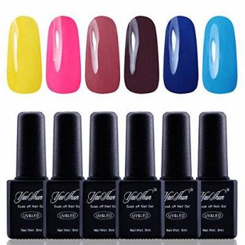 Y&S Gel Nail Polish,Soak Off Gel UV Varnish 6Pcs Sets #006