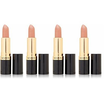 Revlon Super Lustrous Lipstick, Champagne on Ice 205 0.15 oz (Pack of 4) + FREE Scunci Black Roller Pins, 18 Pcs