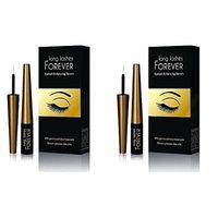 Long Lashes Forever, Eyelash Enhancing Serum, 4 ml (Pack of 2) + FREE FREE Schick Slim Twin ST for Sensitive Skin