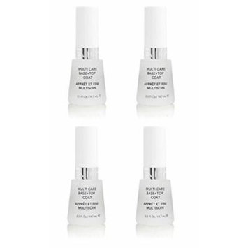Revlon Nail Polish Multi Care Base+top Coat 0.5 Oz (4 Pack) + FREE LA Cross Blemish Remover 74851