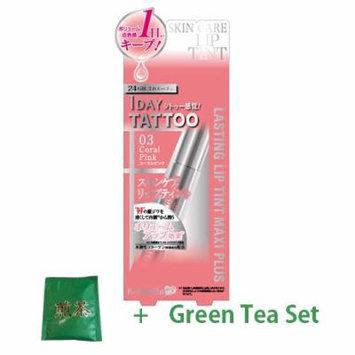 K-Palette Lasting Lip Tint Maxi Plus - Coral Pink (Green Tea Set)
