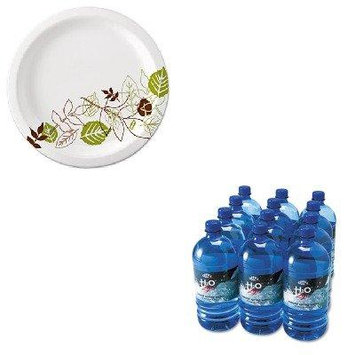 KITDXEUX9WSPKOFX00026 - Value Kit - Office Snax Bottled Spring Water (OFX00026) and Dixie Pathways Mediumweight Paper Plates (DXEUX9WSPK)