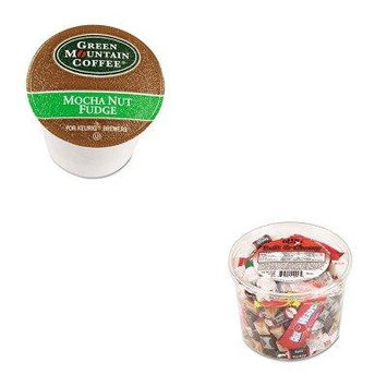 KITGMT6752OFX00013 - Value Kit - Green Mountain Coffee Roasters Mocha Nut Fudge Coffee K-Cups (GMT6752) and Office Snax Soft amp;amp; Chewy Mix (OFX00013)