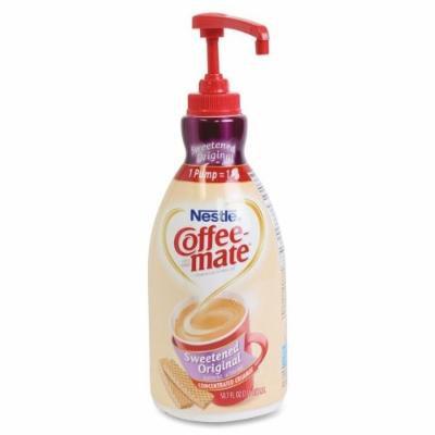 Coffee-Mate Liquid Pump Bottle - Sweetened Original Flavor - 1.59 quart - 1Each