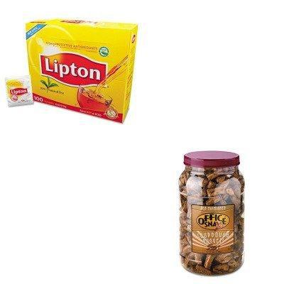 KITLIP291OFX00080 - Value Kit - Office Snax Pretzel Assortment (OFX00080) and Lipton Tea Bags (LIP291)