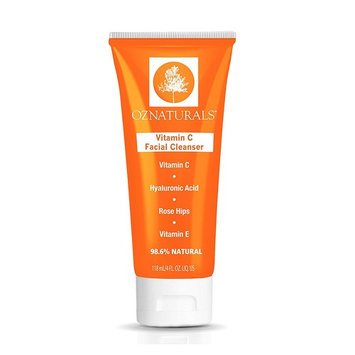 OZNaturals Vitamin C Facial Cleanser - The Most Effective Anti Aging Face Wash + The Natural Skin Care Solution For Clean Pores And A Healthy, Radiant Glow. 98% Natural, 4 oz. tube