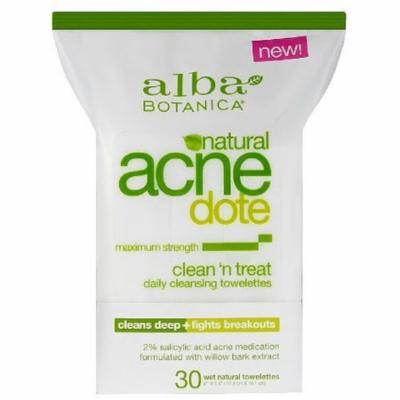 Alba Botanica Acnedote Clean 'n Treat Daily Cleansing Towelettes