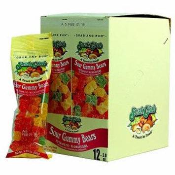 Snak Club Tube Sour Gummy Bears 12Ct - Pack Of 12